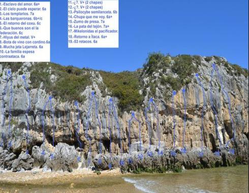 escalada cuevas del mar